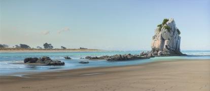 Shag Rock at Sumner Beach